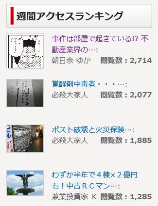 朝日奈が執筆したコラムが 不動産情報サイト『楽待』で アクセスランキング1位